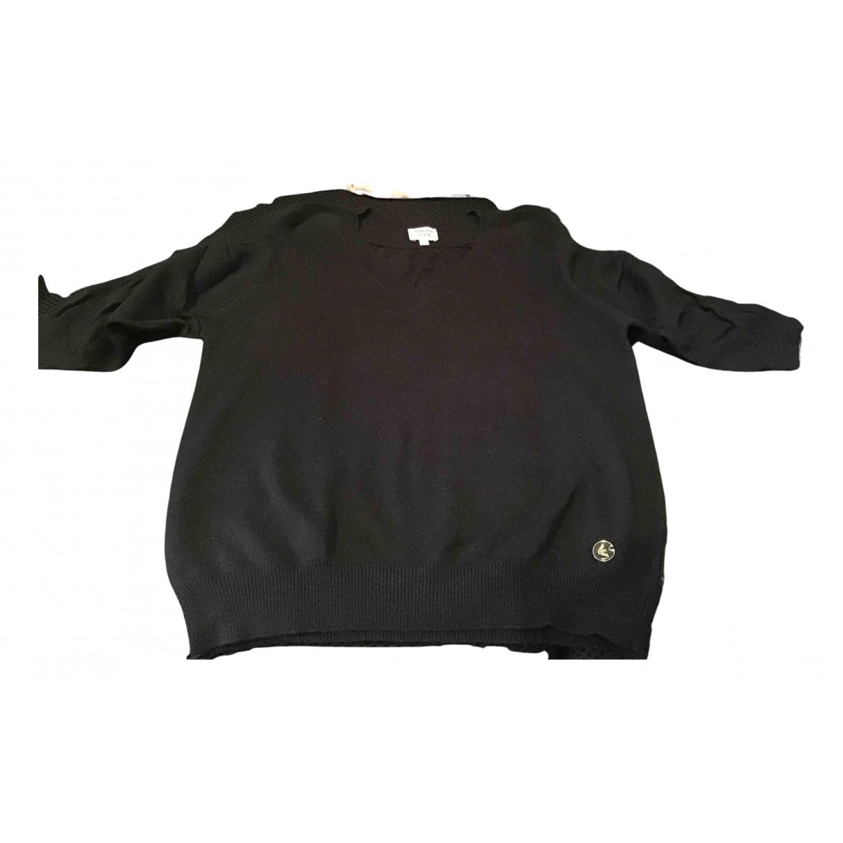 Armani Baby - Pull   pour femme en coton - noir