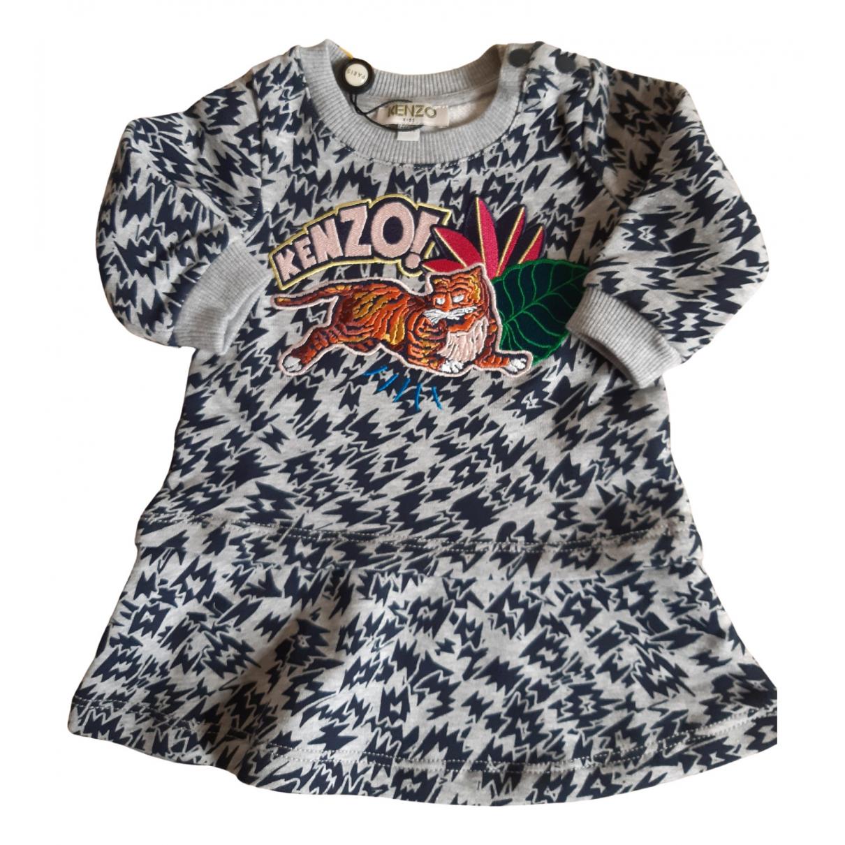 Kenzo - Robe    pour enfant en coton - gris