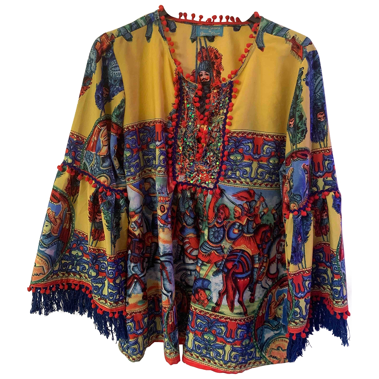 Non Signe / Unsigned Oversize Top in  Bunt Polyester