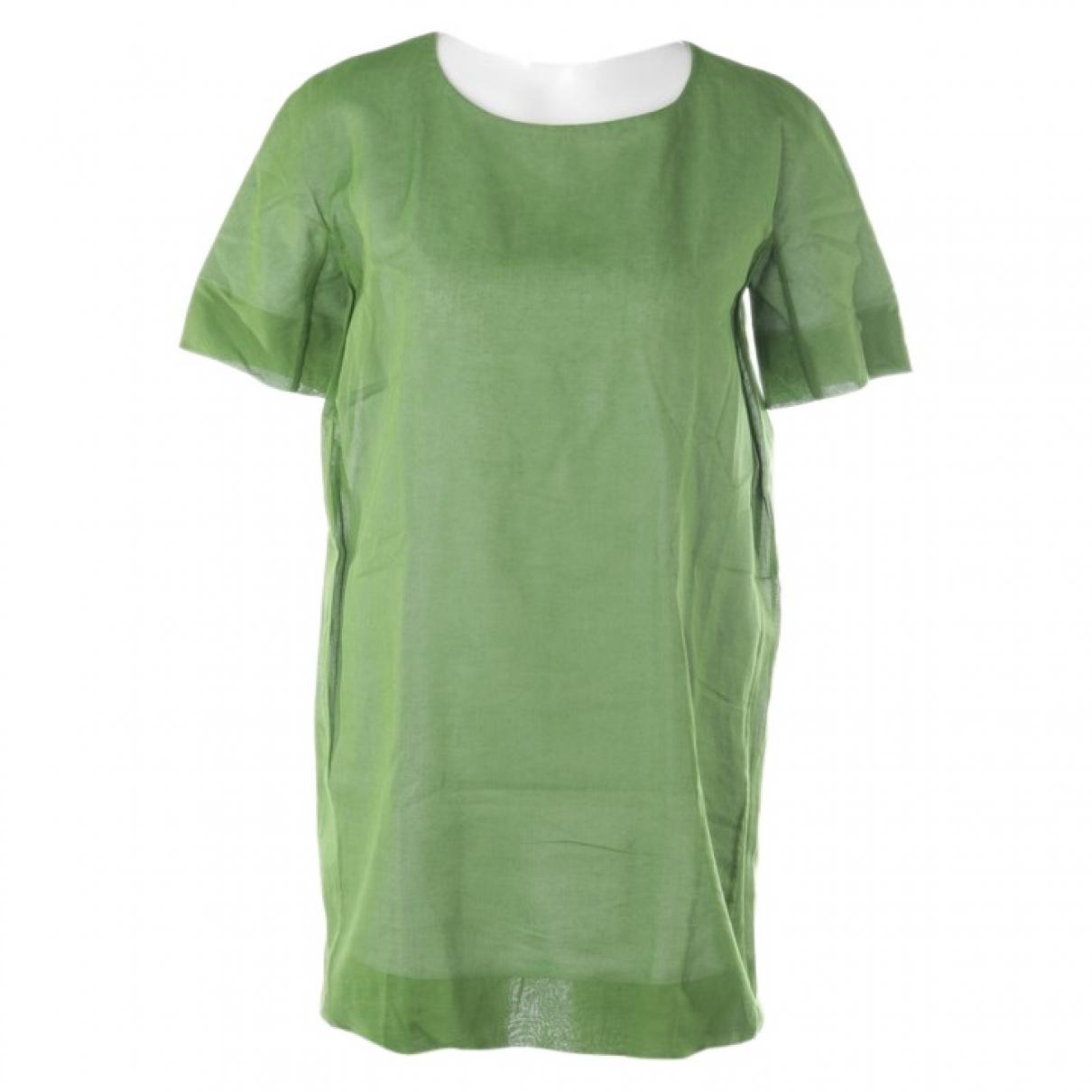 Jil Sander \N Kleid in  Gruen Baumwolle