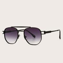 Top Bar Gradient Lens Sunglasses