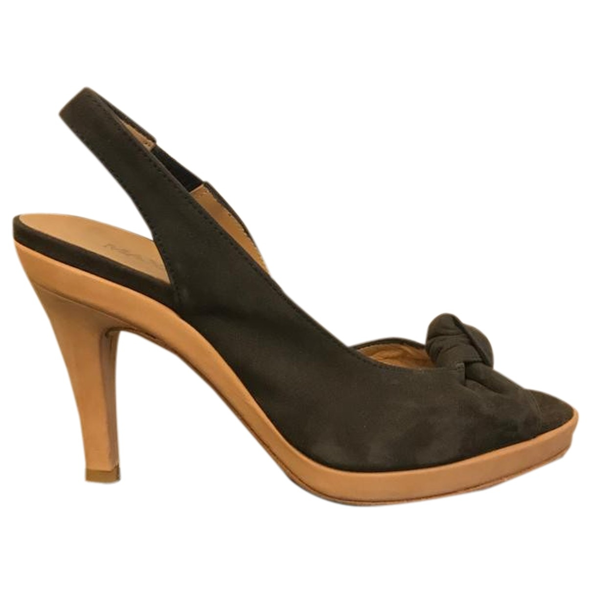 Max & Co \N Brown Leather Heels for Women 35 EU