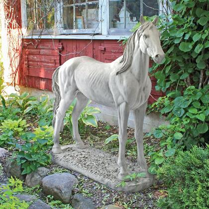 KY5172 Majestic Horse Statue Antique Stone