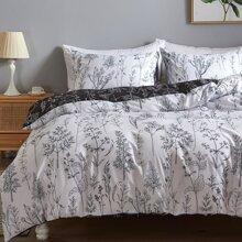 Plants Print Bedding Set Without Filler