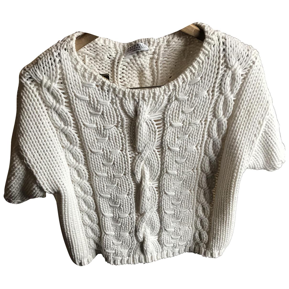 Brunello Cucinelli N White Cotton Knitwear for Women S International