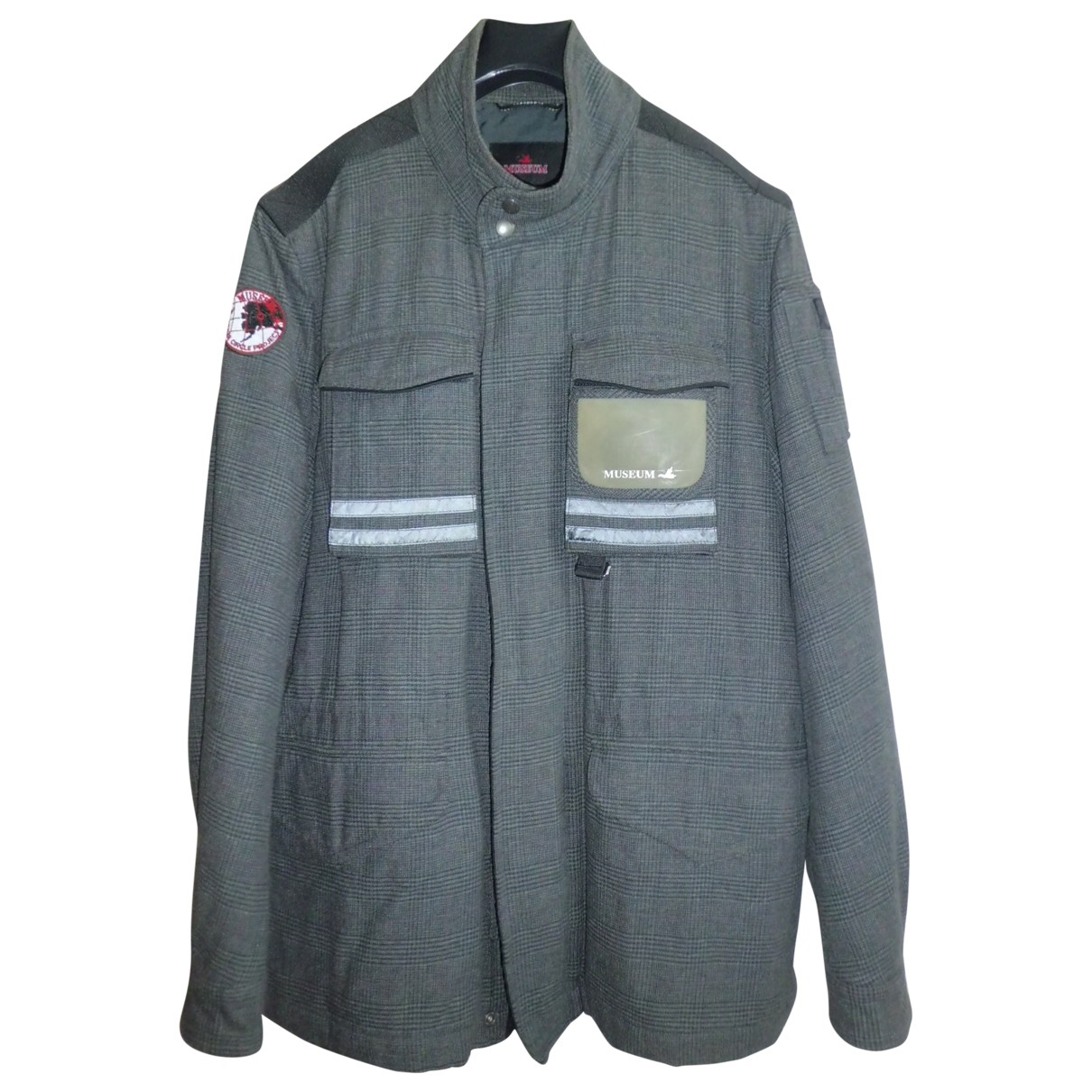 Museum N Grey Cotton jacket  for Men XL International