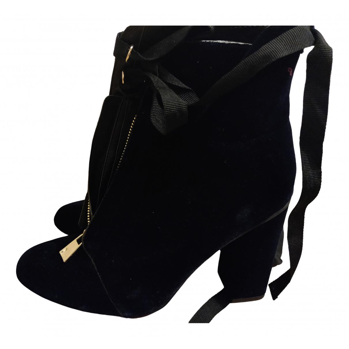 Botines de Terciopelo Zara