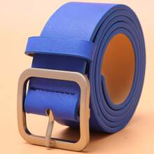 Guys Square Metal Buckle Belt