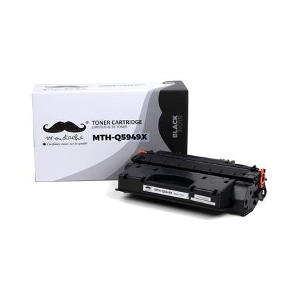 Compatible HP 49X Q5949X cartouche de toner noire haute capacite - Moustache