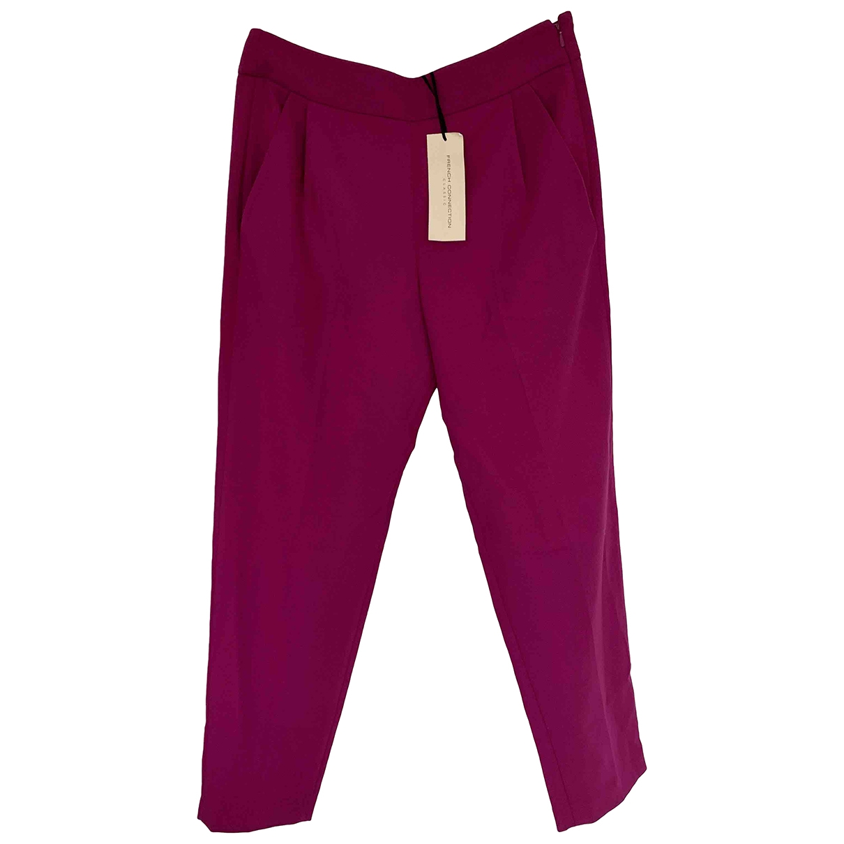 French Connection \N Purple Trousers for Women 8 UK
