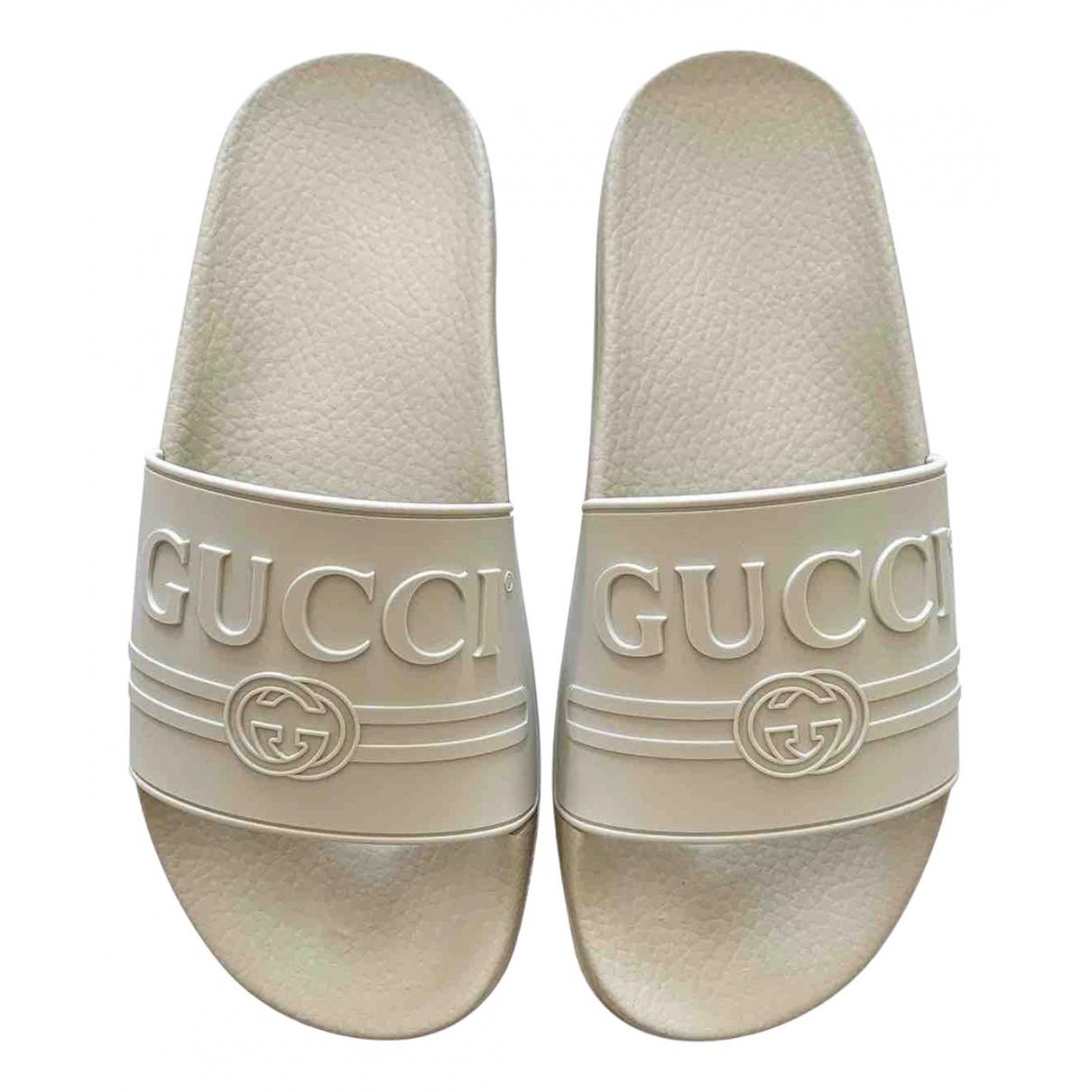 Gucci \N Sandalen in  Weiss Kunststoff