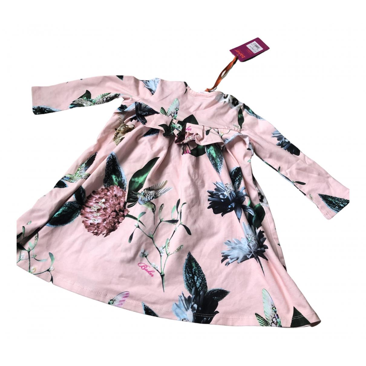 Ted Baker - Robe    pour enfant en coton - rose