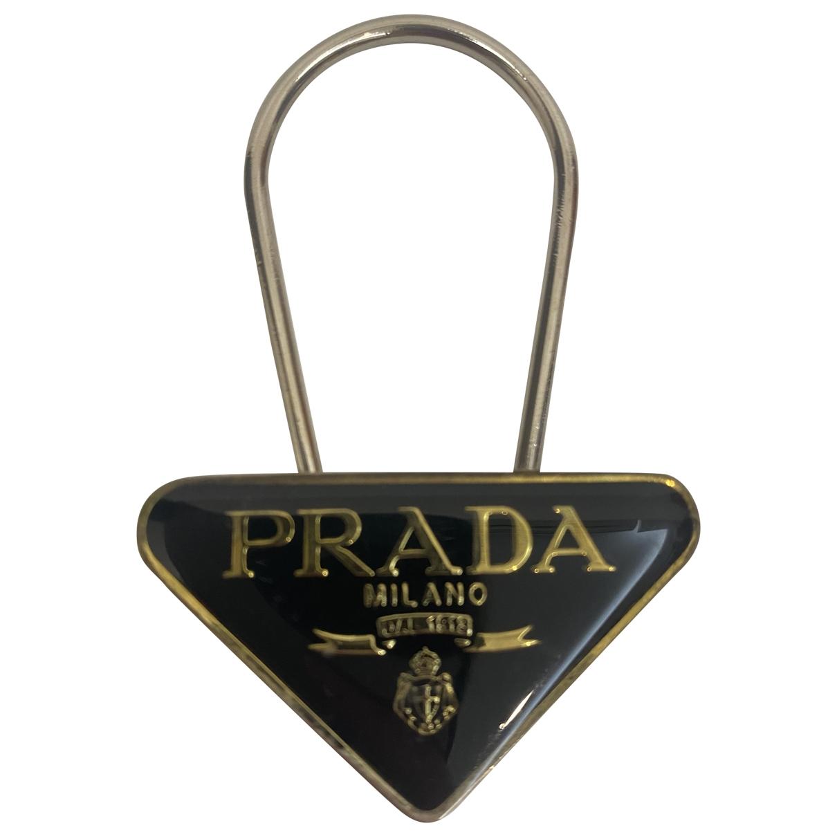 Prada \N Taschenschmuck in  Schwarz Metall