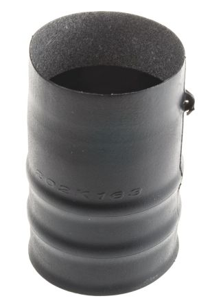 TE Connectivity Straight Cable Boot Black, Fluid Resistant Elastomer Adhesive Lined, 43mm