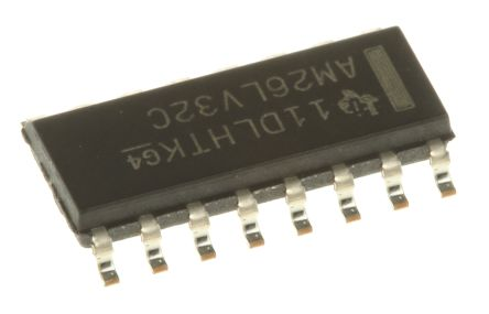 Texas Instruments AM26LV32CD, Quad-RX Quad Line Receiver, RS-422, V.11, 3.3 V, 16-Pin SOIC (5)
