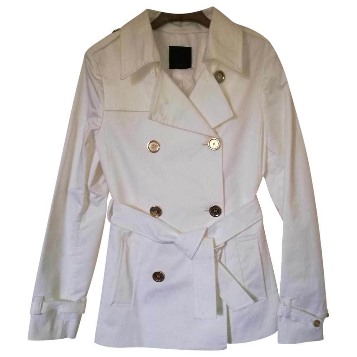 Pinko \N White Cotton Trench coat for Women 36 FR