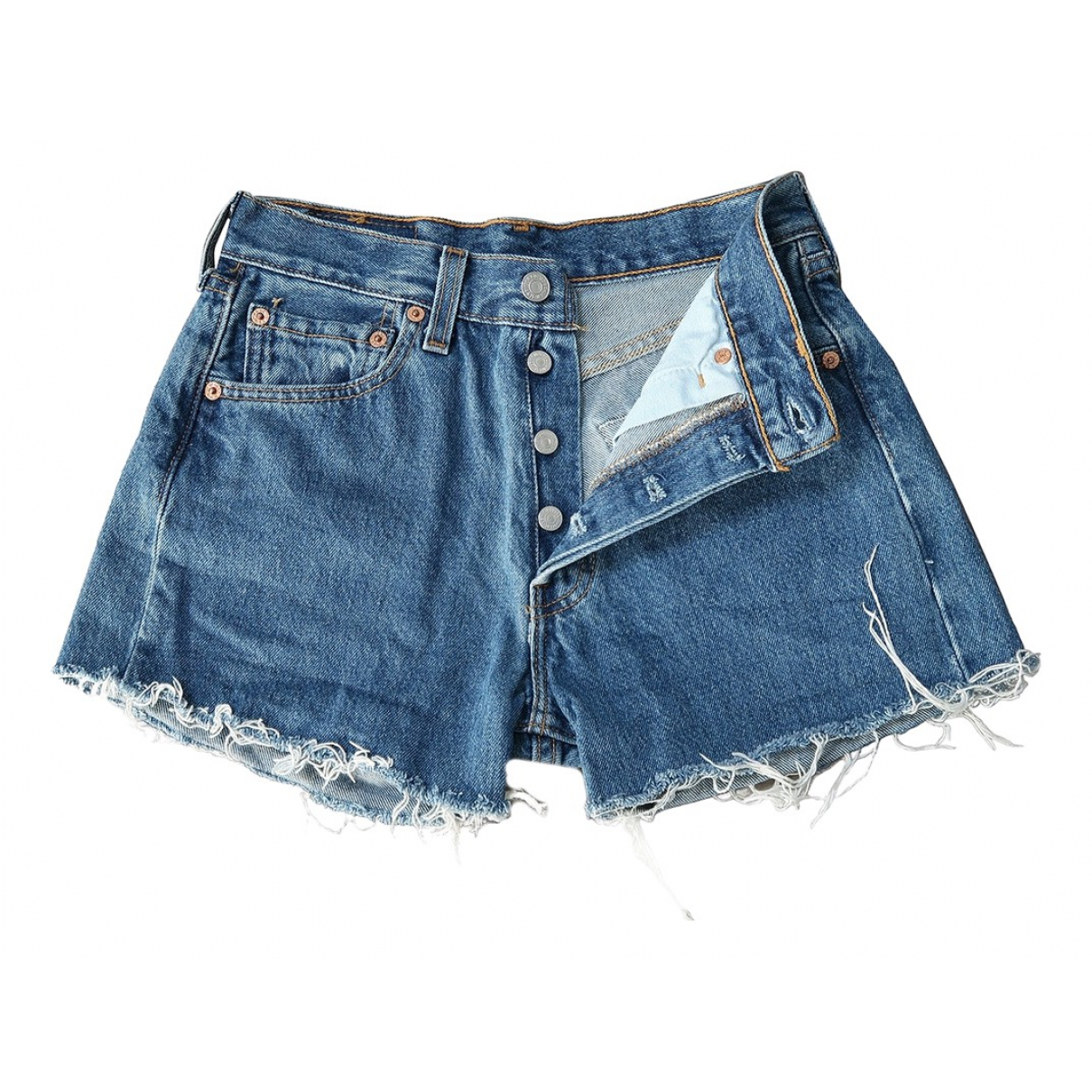 Levi's Vintage Clothing \N Blue Cotton Shorts for Women 34 FR