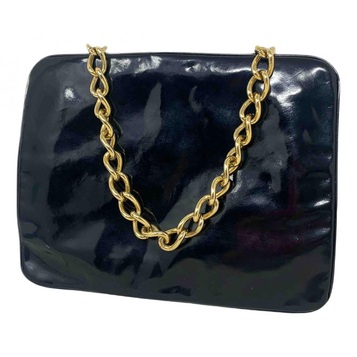 Dolce & Gabbana \N Clutch in  Schwarz Lackleder