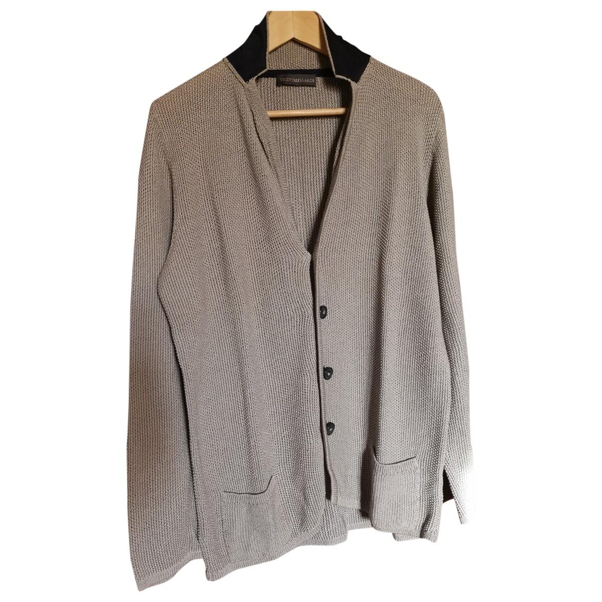 Trussardi \N Pullover.Westen.Sweatshirts  in  Grau Baumwolle