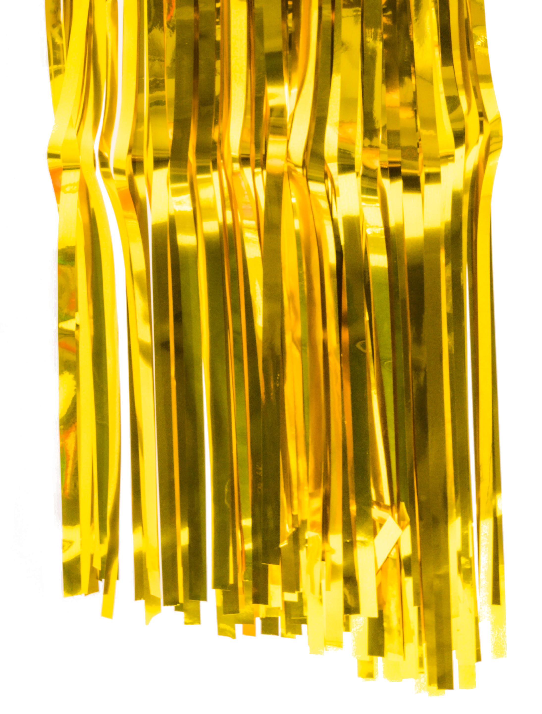 Tischrock Fransen metallic gold