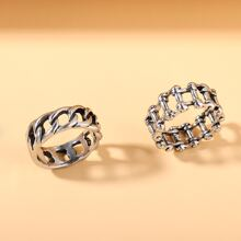 2pcs Hollow Out Ring