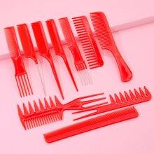 10pcs Solid Hair Comb