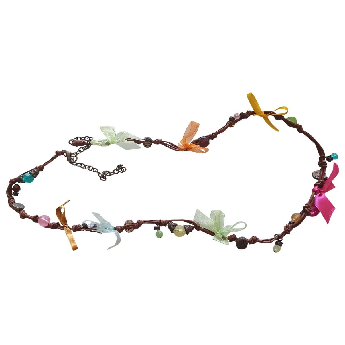 Uterque - Collier   pour femme en cuir - multicolore