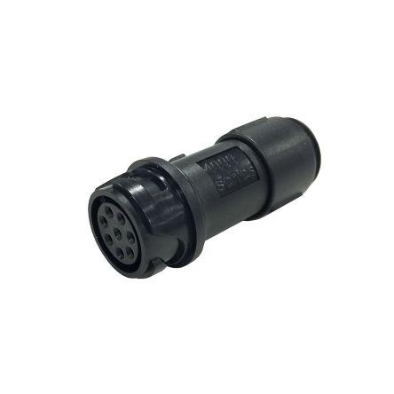 Bulgin Connector, 6 contacts Cable Mount Miniature Socket, Crimp, Solder IP66, IP68, IP69K (5)