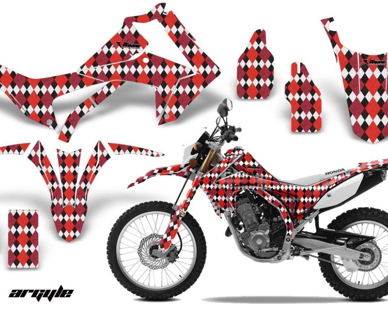 AMR Racing Dirt Bike Graphics Kit Decal Sticker Wrap For Honda CRF250L 2013-2016áARGYLE RED