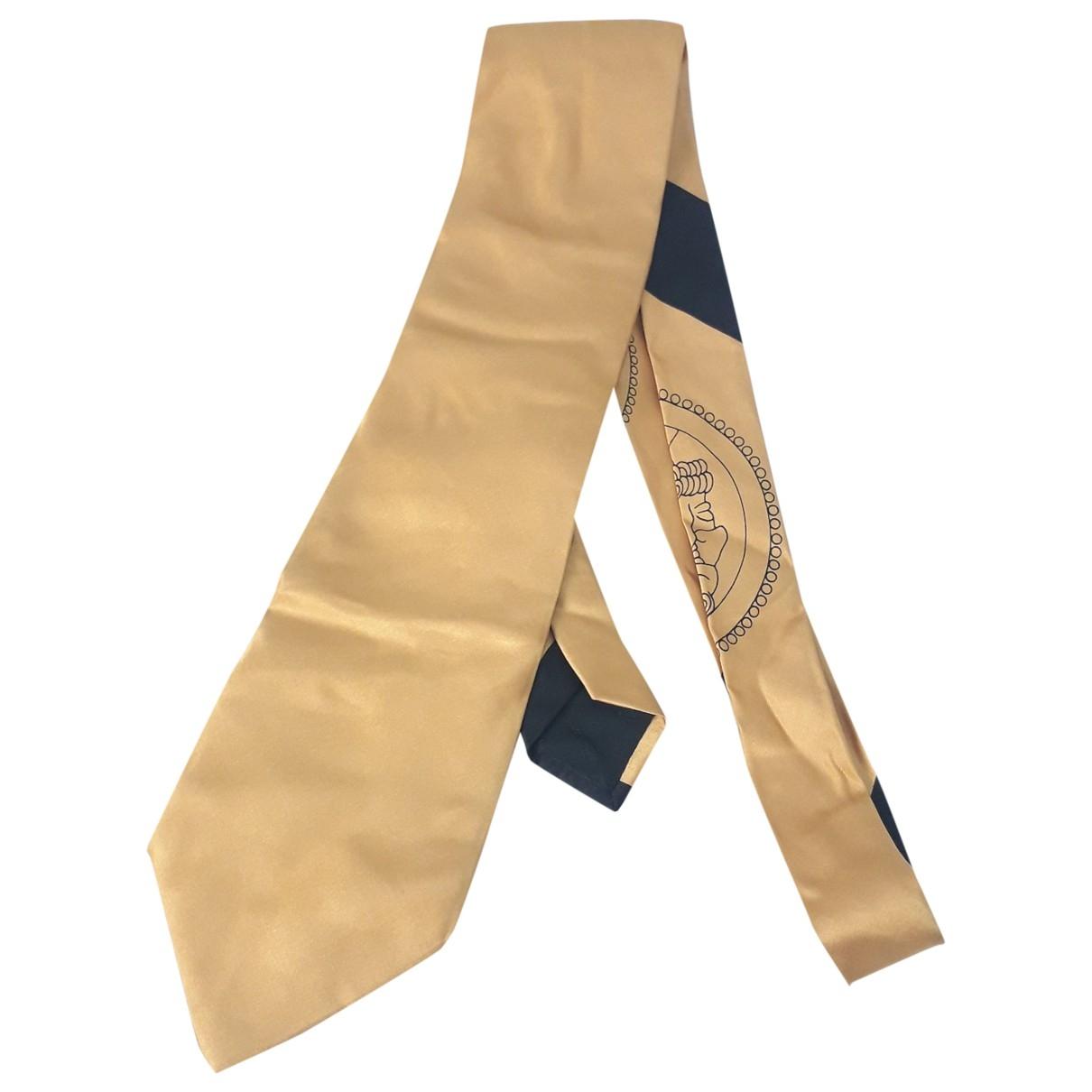 Fendi - Cravates   pour homme en soie - dore