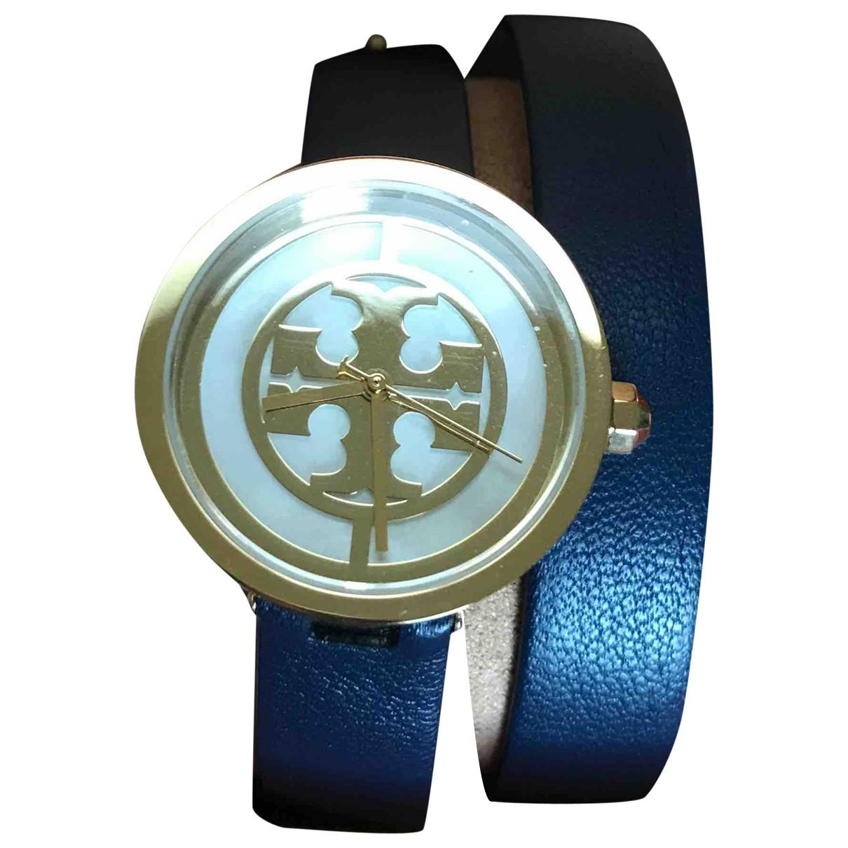 Tory Burch \N Uhr in  Blau Stahl