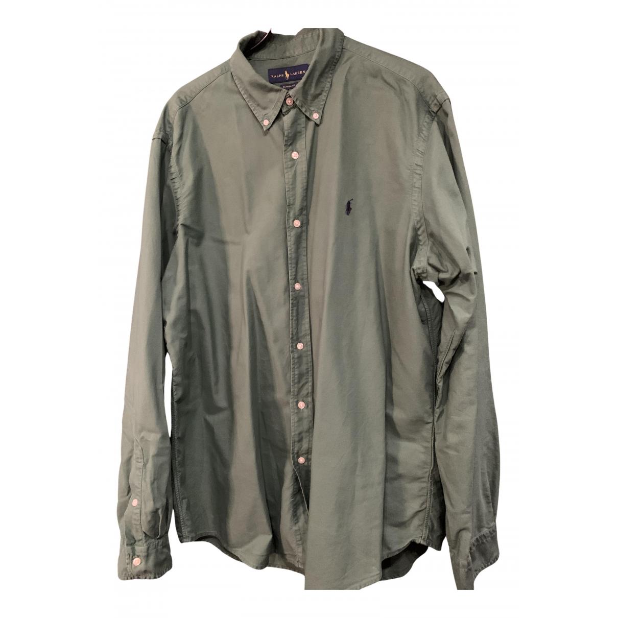 Ralph Lauren N Green Cotton Shirts for Men XL International