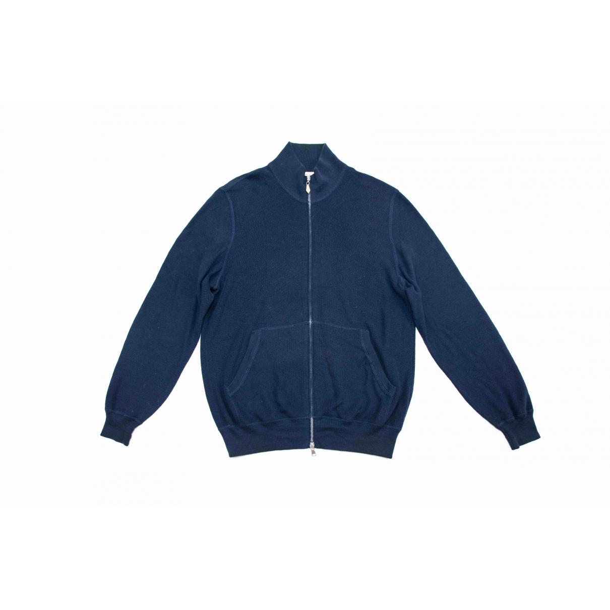 Brunello Cucinelli - Pulls.Gilets.Sweats   pour homme en coton - bleu