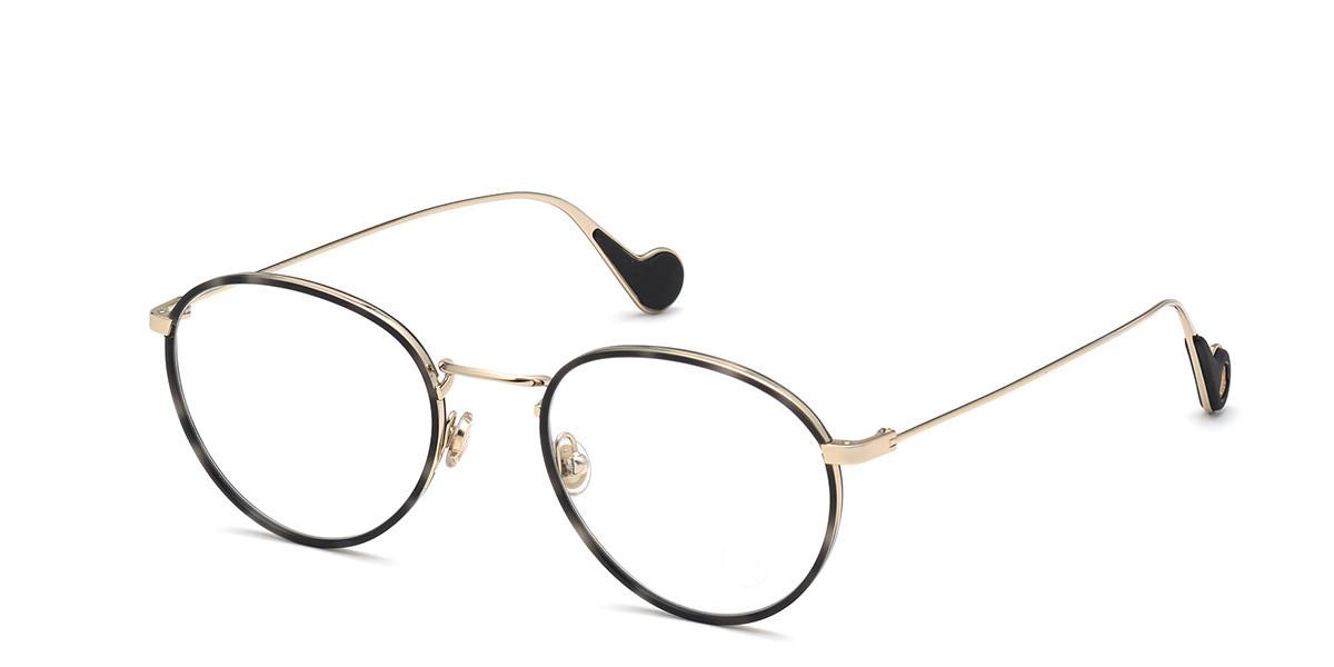 Moncler ML5110 032 Men's Glasses Gold Size 51 - Free Lenses - HSA/FSA Insurance - Blue Light Block Available