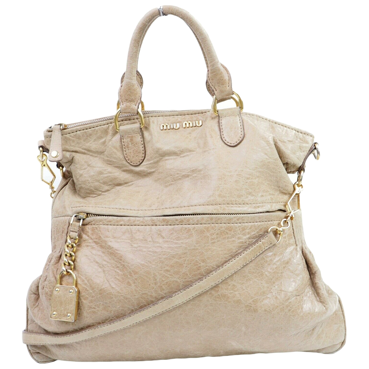 Miu Miu \N Beige Leather handbag for Women \N