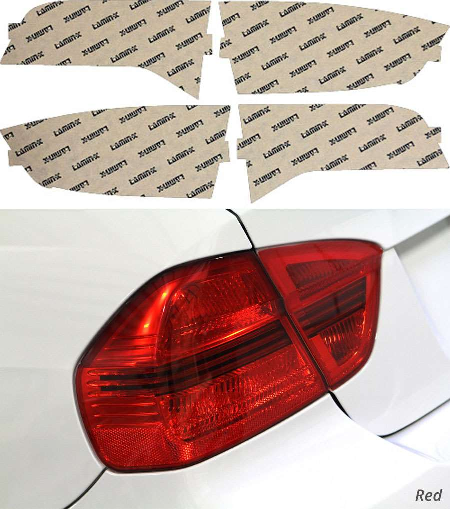 Acura RDX 07-12 Red Tail Light Covers Lamin-X AC212R