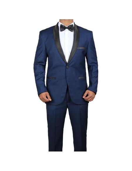 Mens Shawl lapel James Bond Midnight Blue Two Piece Tuxedo