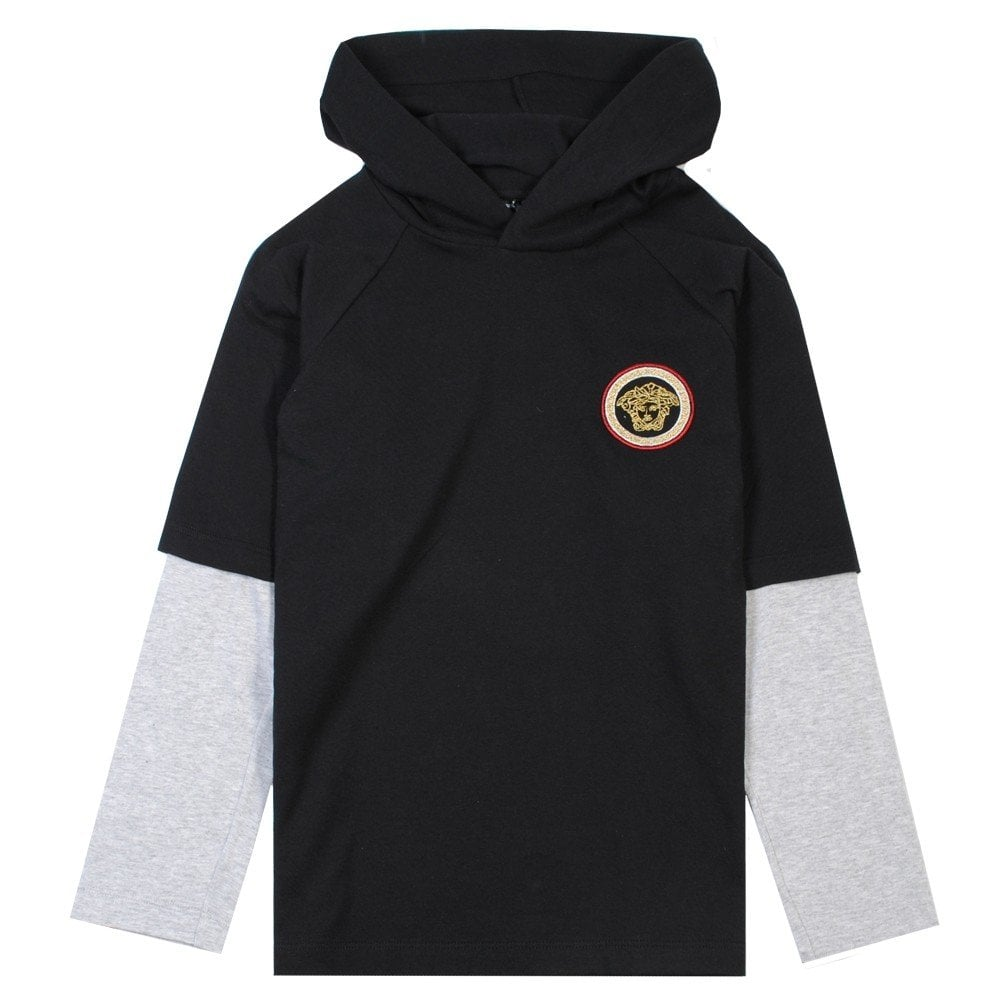 Versace Young Versace Medusa Hoody Colour: BLACK, Size: MEDIUM