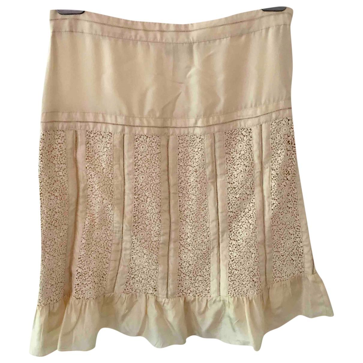Blumarine \N Beige Silk skirt for Women 42 IT