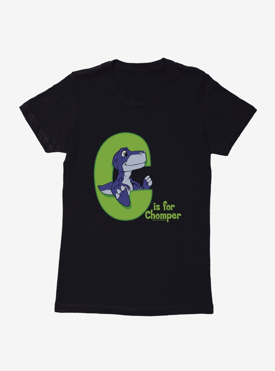 The Land Before Time C Is For Chomper Green Womens T-Shirt