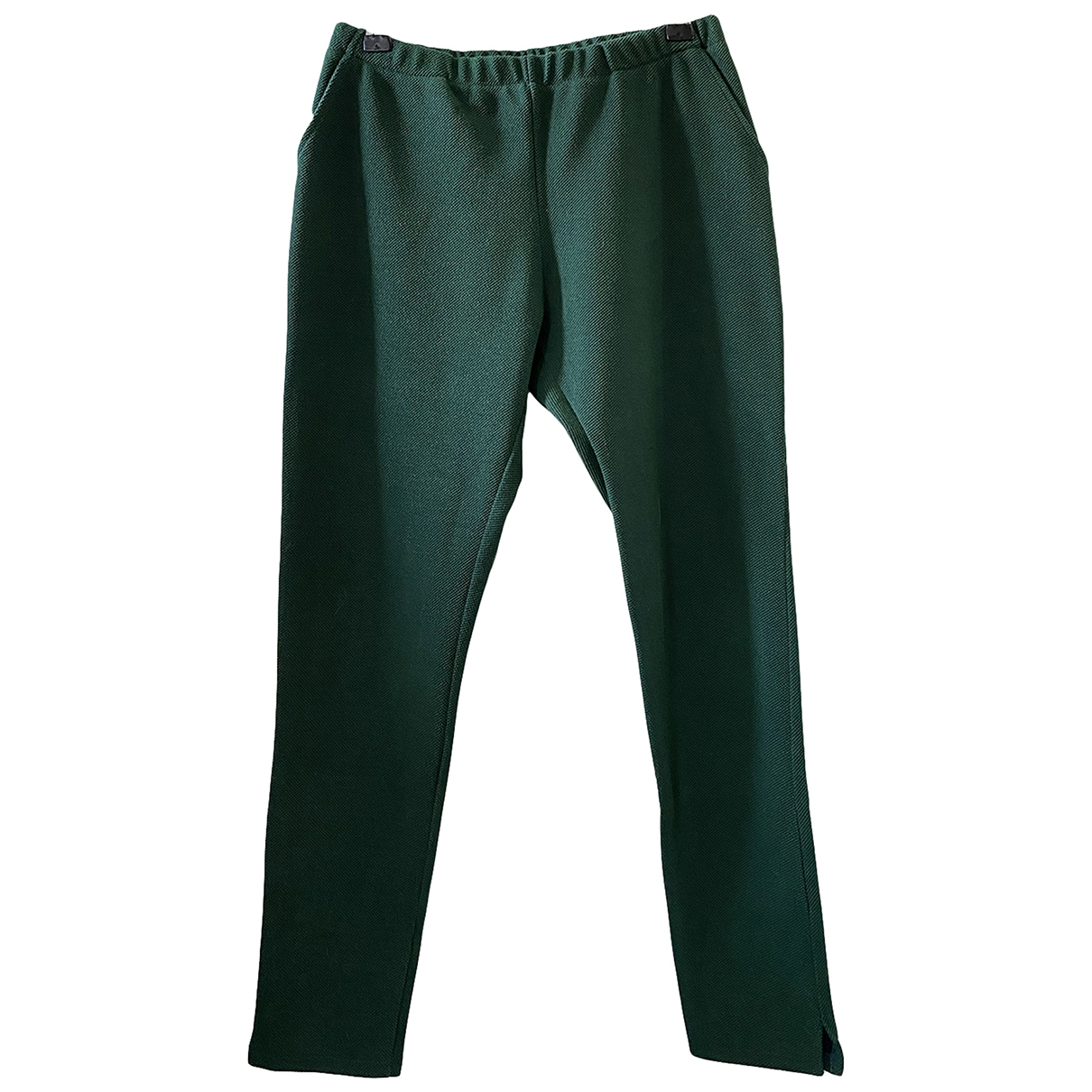 Margaux Lonnberg \N Green Cotton Trousers for Women 34 FR