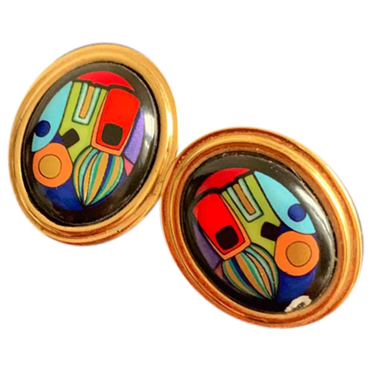 Frey Wille - Boucles doreilles   pour femme en plaque or - multicolore