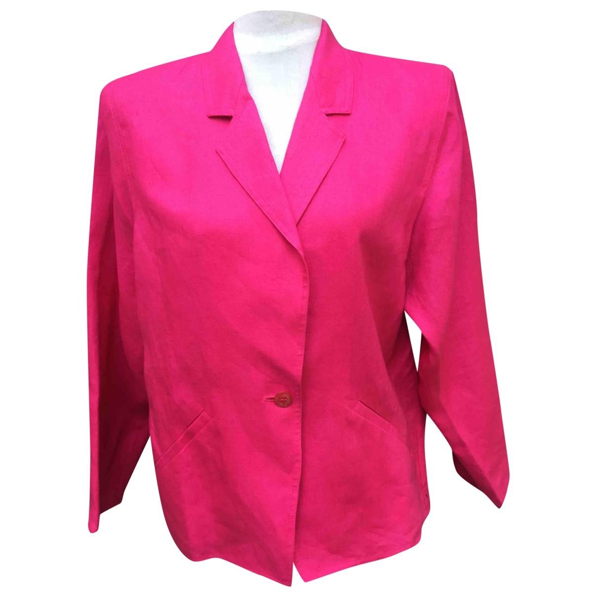 Marella - Veste   pour femme en lin - rose