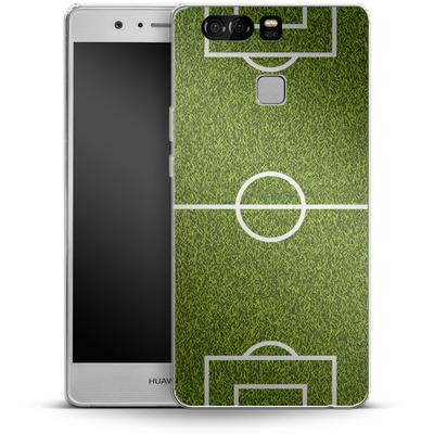 Huawei P9 Silikon Handyhuelle - Soccer Field von caseable Designs