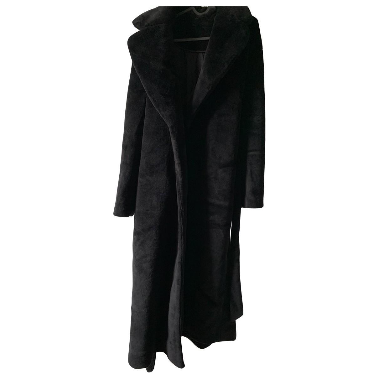 Non Signe / Unsigned Oversize Maentel in  Schwarz Wolle