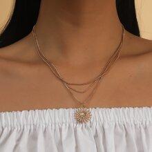 Halskette mit Sonne Dekor