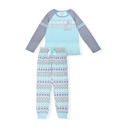 Sleep On It Big Girls 2-pc. Pajama Set, Large (14-16) , Blue