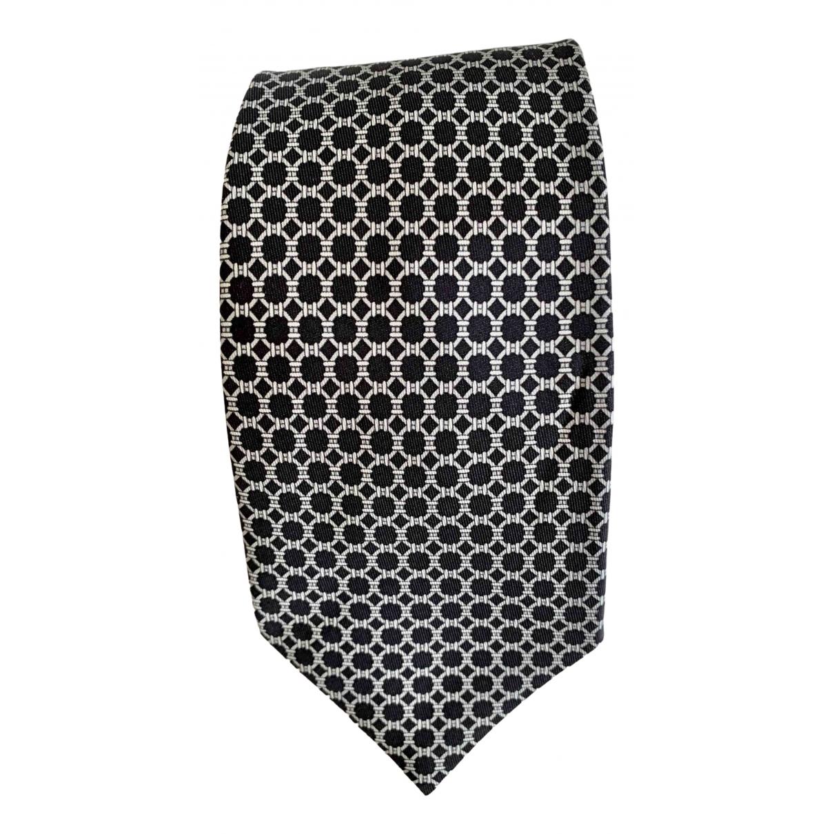 Hermès \N Black Silk Ties for Men \N