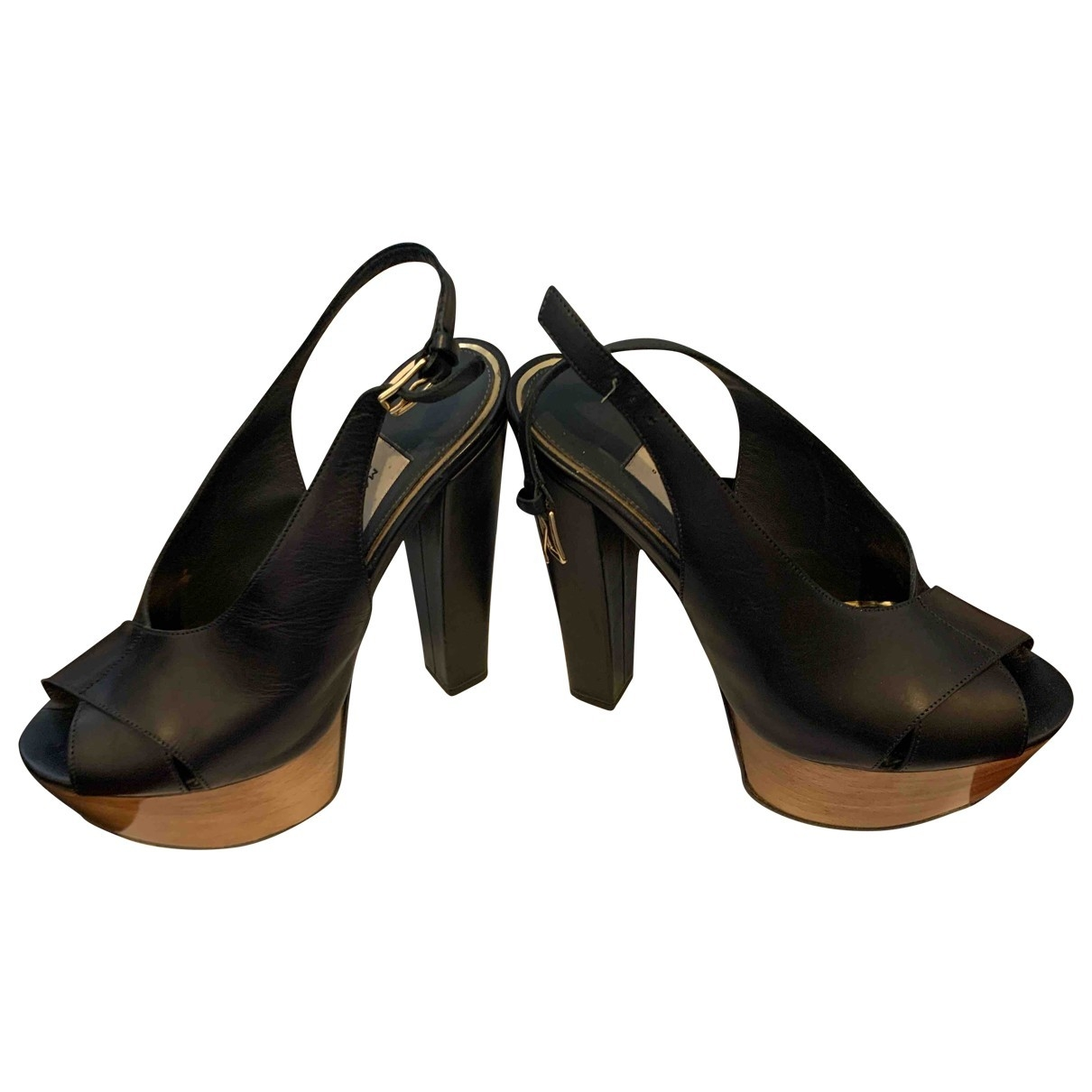 Marco Proietti Design - Sandales   pour femme en cuir - noir