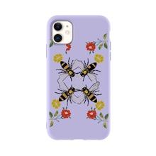 iPhone Schutzhuelle mit Biene und Blumen Muster